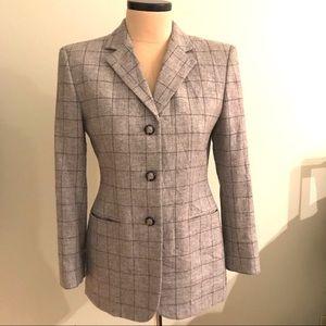 Ralph Lauren Gray Wool Blazer Horse Buttons 8